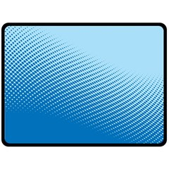 Blue Dot Pattern Double Sided Fleece Blanket (large)