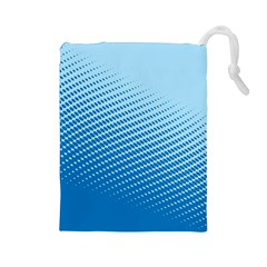 Blue Dot Pattern Drawstring Pouches (large)