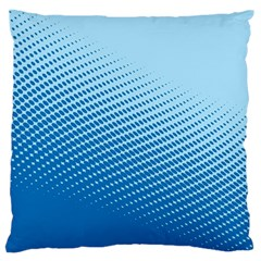 Blue Dot Pattern Standard Flano Cushion Case (one Side)