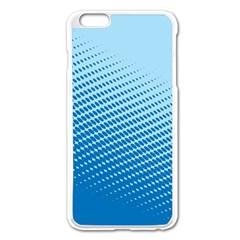 Blue Dot Pattern Apple Iphone 6 Plus/6s Plus Enamel White Case