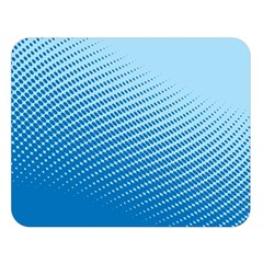 Blue Dot Pattern Double Sided Flano Blanket (large)