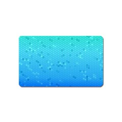 Blue Seamless Black Hexagon Pattern Magnet (name Card)