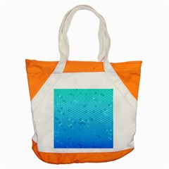 Blue Seamless Black Hexagon Pattern Accent Tote Bag