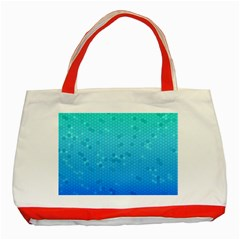 Blue Seamless Black Hexagon Pattern Classic Tote Bag (red)