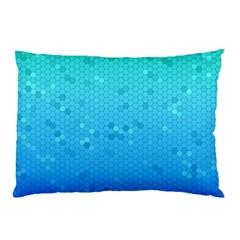 Blue Seamless Black Hexagon Pattern Pillow Case