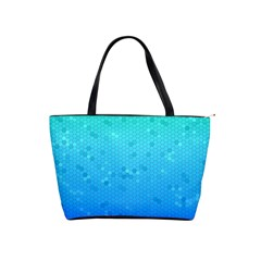 Blue Seamless Black Hexagon Pattern Shoulder Handbags