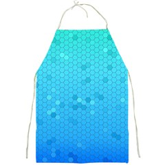 Blue Seamless Black Hexagon Pattern Full Print Aprons