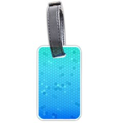 Blue Seamless Black Hexagon Pattern Luggage Tags (one Side)