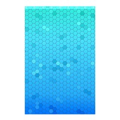 Blue Seamless Black Hexagon Pattern Shower Curtain 48  X 72  (small)