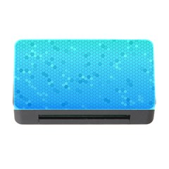 Blue Seamless Black Hexagon Pattern Memory Card Reader With Cf