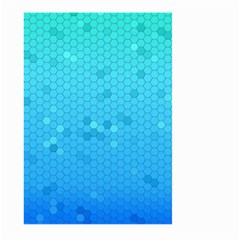 Blue Seamless Black Hexagon Pattern Large Garden Flag (two Sides)