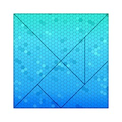 Blue Seamless Black Hexagon Pattern Acrylic Tangram Puzzle (6  X 6 )