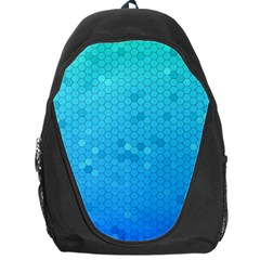 Blue Seamless Black Hexagon Pattern Backpack Bag