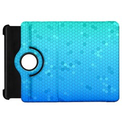 Blue Seamless Black Hexagon Pattern Kindle Fire Hd 7