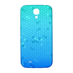 Blue Seamless Black Hexagon Pattern Samsung Galaxy S4 I9500/i9505  Hardshell Back Case