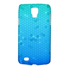 Blue Seamless Black Hexagon Pattern Galaxy S4 Active