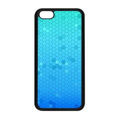 Blue Seamless Black Hexagon Pattern Apple Iphone 5c Seamless Case (black)
