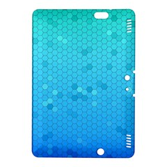 Blue Seamless Black Hexagon Pattern Kindle Fire Hdx 8 9  Hardshell Case