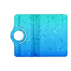 Blue Seamless Black Hexagon Pattern Kindle Fire Hd (2013) Flip 360 Case