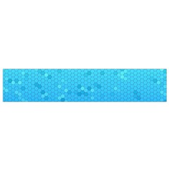 Blue Seamless Black Hexagon Pattern Flano Scarf (small)