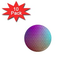 Blue And Pink Colors On A Pattern 1  Mini Magnet (10 Pack)