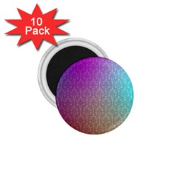Blue And Pink Colors On A Pattern 1 75  Magnets (10 Pack)