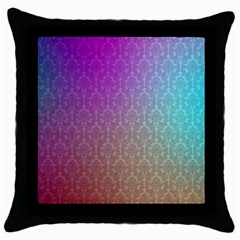 Blue And Pink Colors On A Pattern Throw Pillow Case (black)