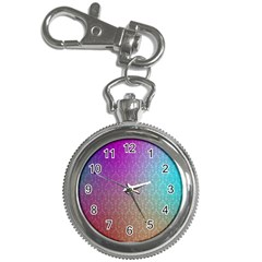 Blue And Pink Colors On A Pattern Key Chain Watches