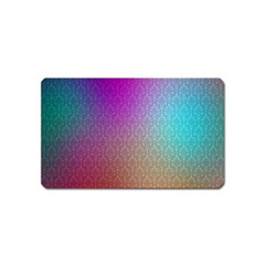 Blue And Pink Colors On A Pattern Magnet (Name Card)