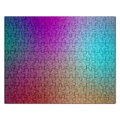 Blue And Pink Colors On A Pattern Rectangular Jigsaw Puzzl