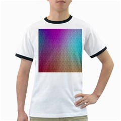 Blue And Pink Colors On A Pattern Ringer T Shirts