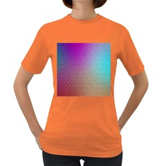 Blue And Pink Colors On A Pattern Women s Dark T Shirt