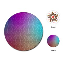 Blue And Pink Colors On A Pattern Playing Cards (round)