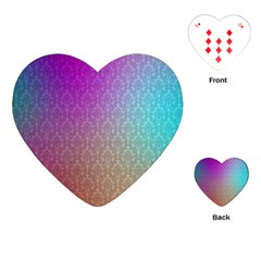Blue And Pink Colors On A Pattern Playing Cards (heart)