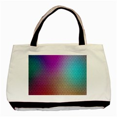 Blue And Pink Colors On A Pattern Basic Tote Bag