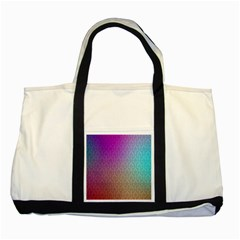 Blue And Pink Colors On A Pattern Two Tone Tote Bag