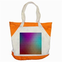 Blue And Pink Colors On A Pattern Accent Tote Bag