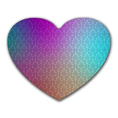 Blue And Pink Colors On A Pattern Heart Mousepads