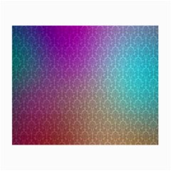 Blue And Pink Colors On A Pattern Small Glasses Cloth (2 Side)