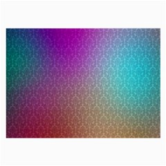 Blue And Pink Colors On A Pattern Large Glasses Cloth (2 Side)