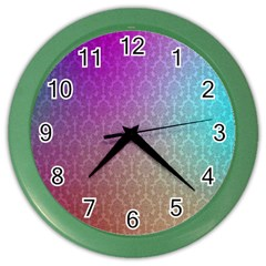 Blue And Pink Colors On A Pattern Color Wall Clocks