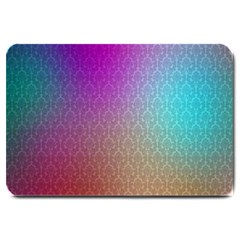 Blue And Pink Colors On A Pattern Large Doormat