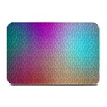 Blue And Pink Colors On A Pattern Plate Mats 18 x12 Plate Mat - 1