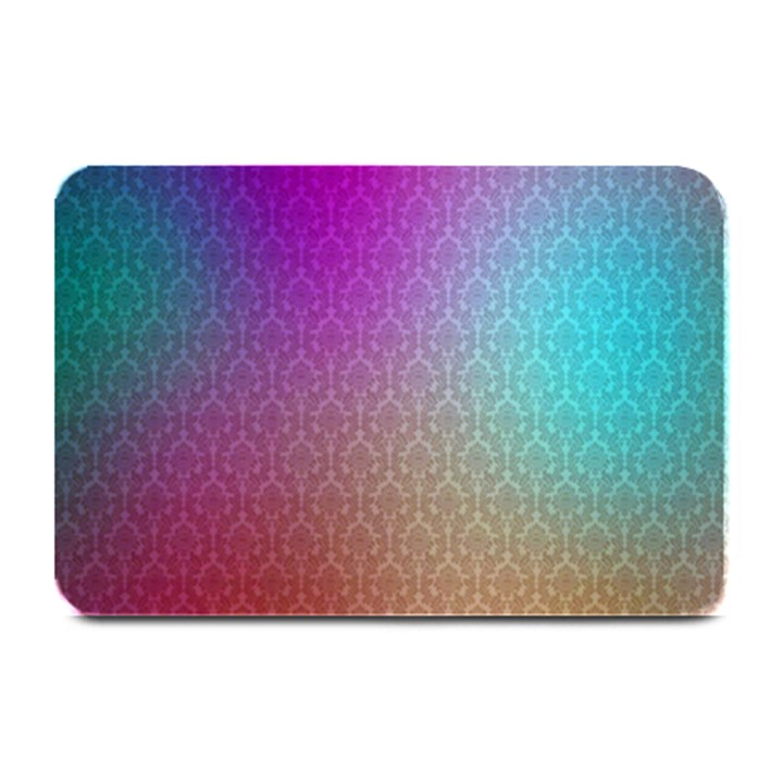 Blue And Pink Colors On A Pattern Plate Mats