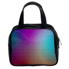 Blue And Pink Colors On A Pattern Classic Handbags (2 Sides)