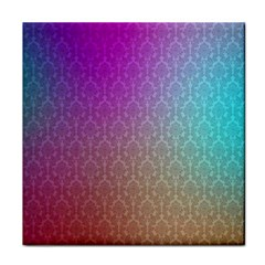 Blue And Pink Colors On A Pattern Face Towel