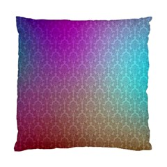Blue And Pink Colors On A Pattern Standard Cushion Case (one Side)