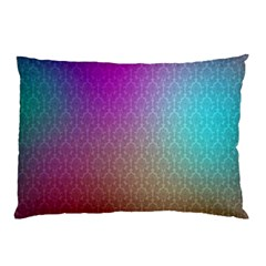 Blue And Pink Colors On A Pattern Pillow Case