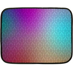 Blue And Pink Colors On A Pattern Double Sided Fleece Blanket (mini)