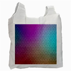 Blue And Pink Colors On A Pattern Recycle Bag (one Side)